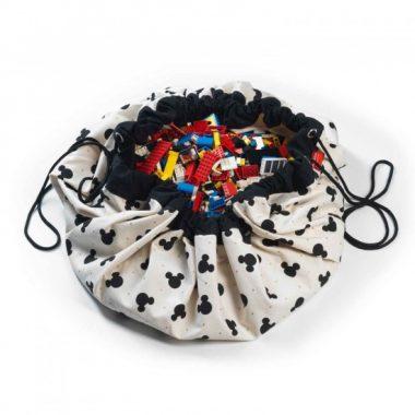 Sacca Tappeto/Portagiochi Mickey Mouse