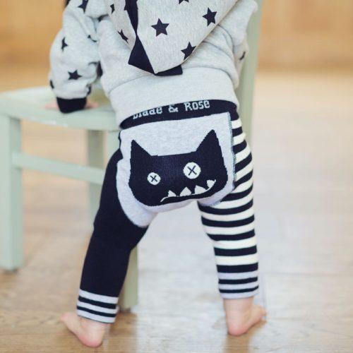 leggings crazy cat blade and rose per bambini