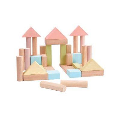 costruzioni set da 40 pezzi pastello plantoys