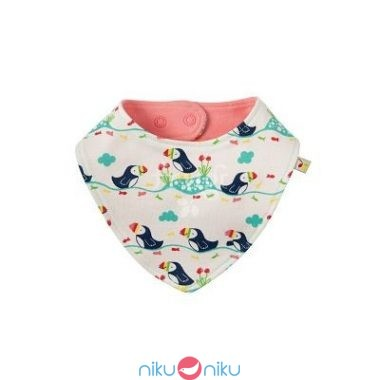 Bavaglino frugi soft white puffin parade