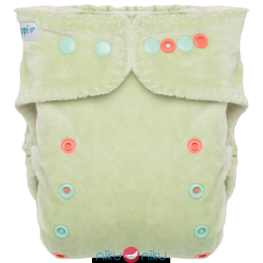 Fitted pocket puppi verde con snaps