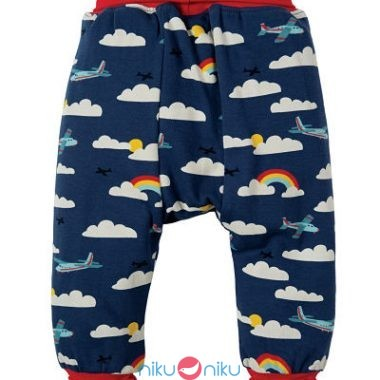 Pantaloni Frugi Parsnip pants marine blue fly away retro