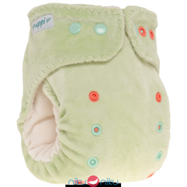 fitted con tasca puppi snaps verde
