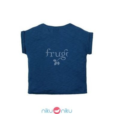 t-shirt marine blue cloud frugi