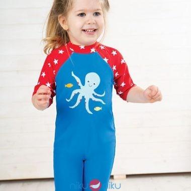 Costume tuta Frugi Octopus indossato