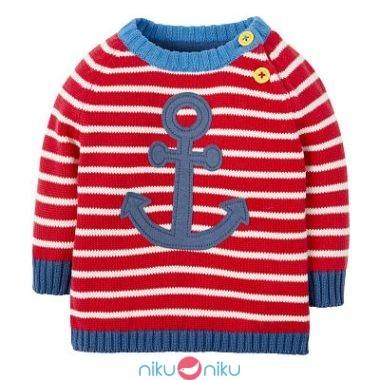 Maglioncino Frugi Little Finn stripe anchor