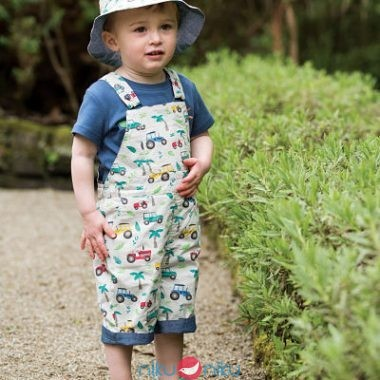 Cappello reversibile Frugi Tropical Tresco indossato