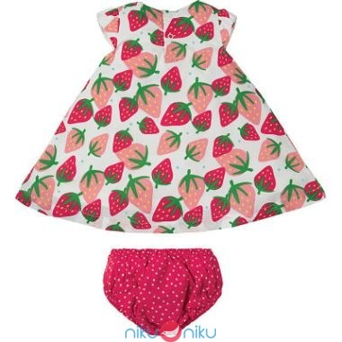 Vestitino Frugi Scilly Strawberries retro\