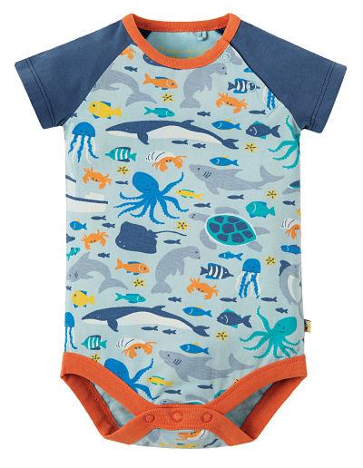 Body frugi maniche corte marine life fronte