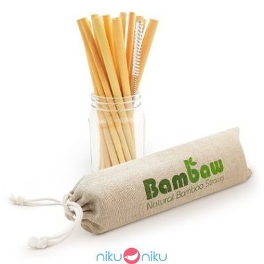 Cannucce Bambaw in bamboo riutilizzabili
