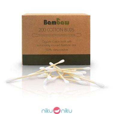 Cotton fioc in bamboo Bambaw biodegradabili compostabili