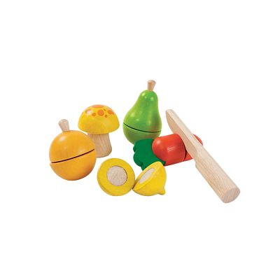 Fruit and vegetable play set plan toys