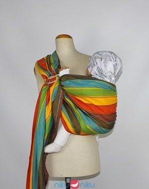 fascia portabebè ad anelli ring sling almelle yellow rainbow