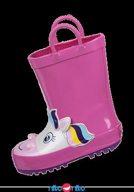 Stivaletti mr tiggle pink unicorn lato