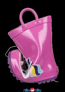 Stivaletti mr tiggle pink unicorn piegati