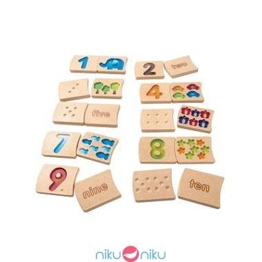 Numeri tessere in legno plan toys