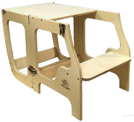 Learning tower convertibile tavolino baby wood