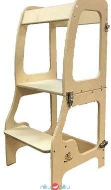 Torre montessori in legno convertibile in tavolino baby wood