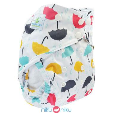 Pannolino lavabile cover blumchen umbrella snaps