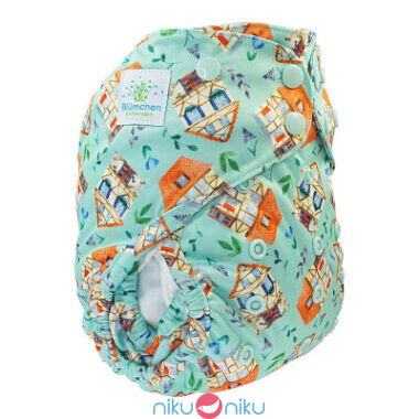 Pannolino lavabile eco cover 2in1 blumchen sweet houses snaps
