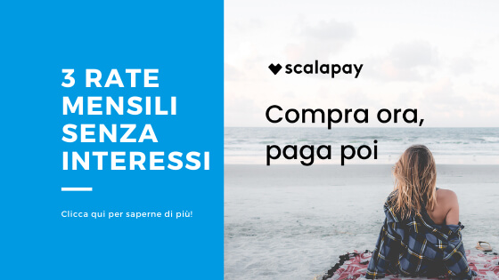 Scalapay paga in 3 rate mensili